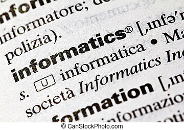 Informatics, definition of the term