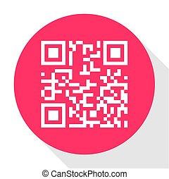informatie, code, vrijstaand, meldingsbord, achtergrond., vector, digitale , qr, witte , pictogram