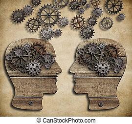 informatie, concept, dialoog, communicatie, verwisselen