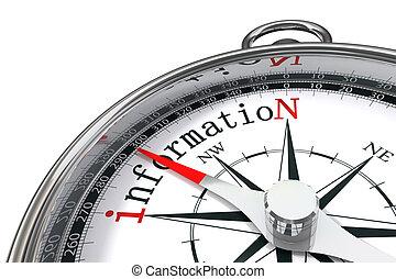 informatie, concept, kompas