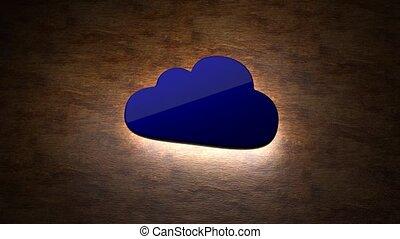 informatie, concept., opslag, 83, cloud., lichtgevend, wolk