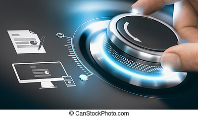 informatie, digitization, proces, digitale , transformatie, ...