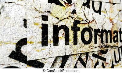 informatie, grunge, concept