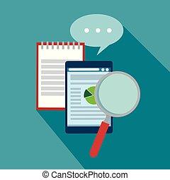 informatie, handel strategie, praatje, document, bel