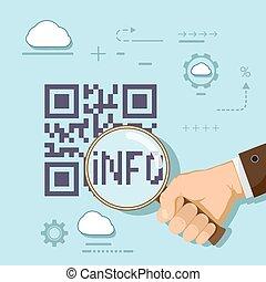 informatie, in, qr, code.