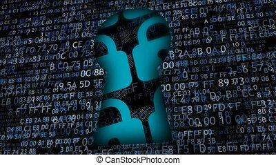 informatie, mogelijk, protection., informatietechnologie,...