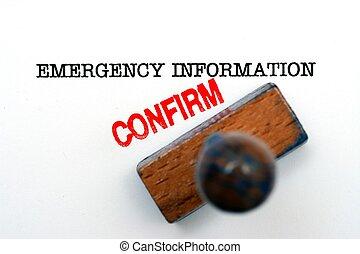 informatie, noodgeval