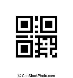 informatie, qr, code, pictogram