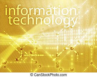 informatie technologie, illustratie