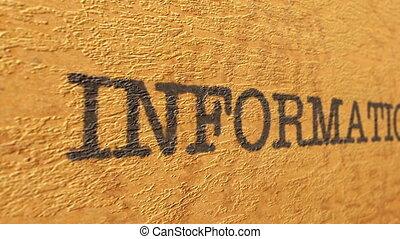 informatie, tekst, op, grunge, achtergrond