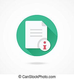 informatie, vector, document, pictogram