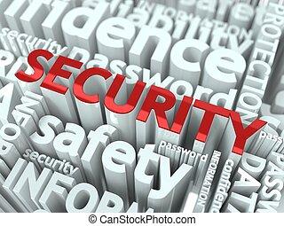 informatie, veiligheid, concept.
