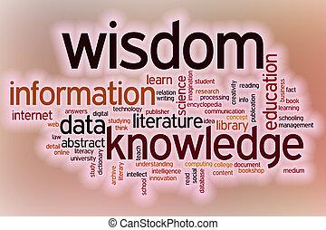 informatie, woord, kennis, abstract, wijsheid, backg, data, wolk