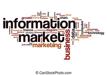informatie, woord, markt, wolk