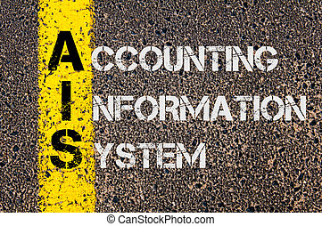 informatie, zakelijk, acroniem, systeem, ais, boekhouding