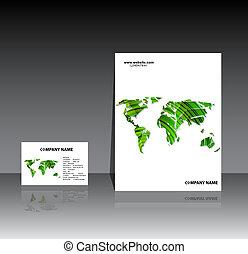 informatieboekje , aarde, vector, mal
