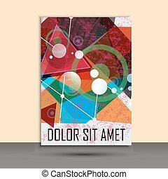 informatieboekje , abstract, vector, ontwerp, mal
