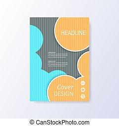 informatieboekje , abstract, vector, ontwerp
