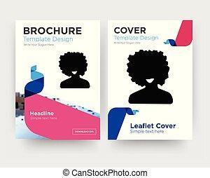 informatieboekje , afro, flyer, ontwerp, mal
