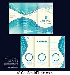 informatieboekje , elegant, ontwerp, mal, tri-fold