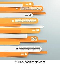 informatieboekje , papier, lijnen, ronde, infographic