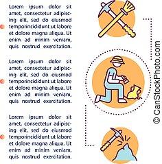 informatieboekje , pictogram, text., ontwerp, archeologie, ...