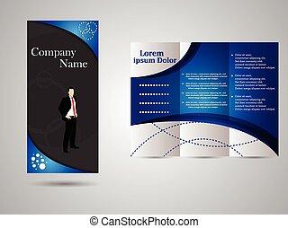 informatieboekje , tri-fold, zakelijk