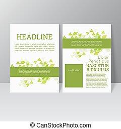 informatieboekje , vector, ontwerp, mal