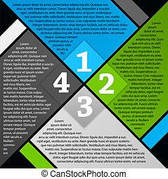 informatieboekje , vector, ontwerp, pagina