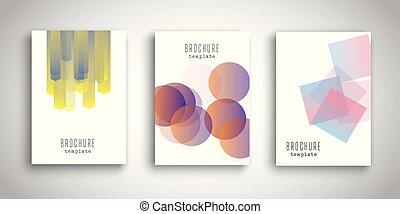 informatieboekje , voorbeelden, met, abstract, ontwerpen, 0307