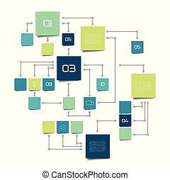 informatiestroomschema, infographic.