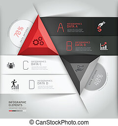 information, 3d, moderne, business., graphiques