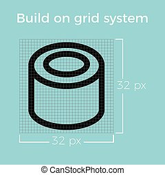 information about design icon on grid system for website and...