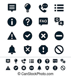 Information and notification icons - Simple vector icons....