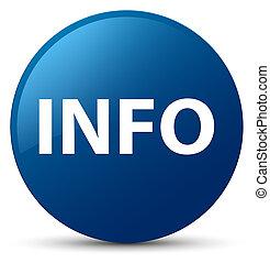 information, bleu, bouton, rond