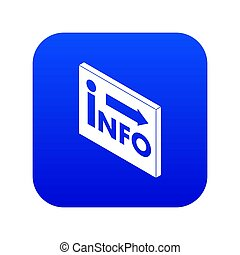information, bleu, marché, icône
