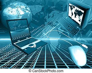 information - blue world of communication