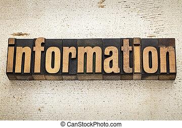 information, bois, type, mot