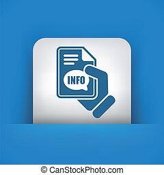 information, bouton, icône