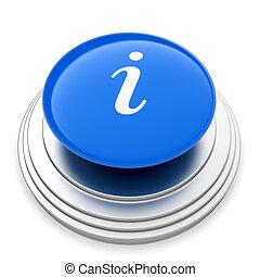 information, bouton, signe