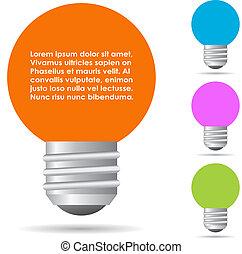 Information bulb label
