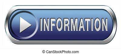Information or info button or icon find and search answers on questions
