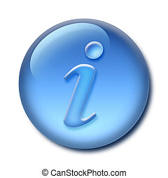 Information Button - Isolated Aqua/gel information button ...