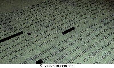 Information censorship.