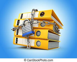information, chaîne, intimité, lock., protection., security., chemise, données