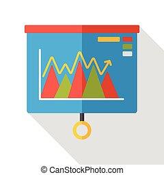 Information chart presentation flat icon
