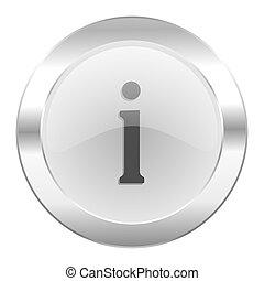 information chrome web icon isolated