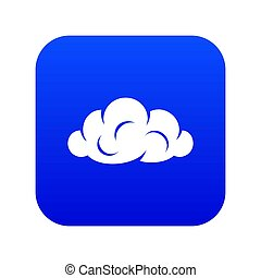 Information cloud icon blue