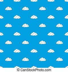 Information cloud pattern seamless blue