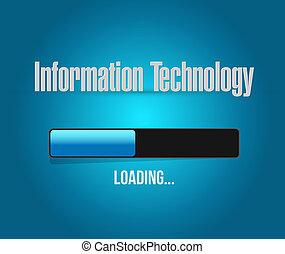information,  concept, barre, signe, chargement, technologie